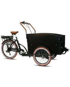 Troy e-bike bakfiets 7-speed Mat Zwart
